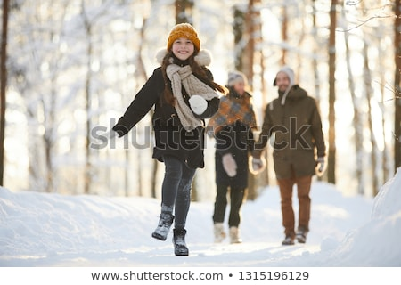 Three girls running towards camera Stock photo © IS2