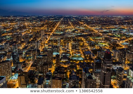 Blue evening in Chicago - view from the west side Stock photo © benkrut