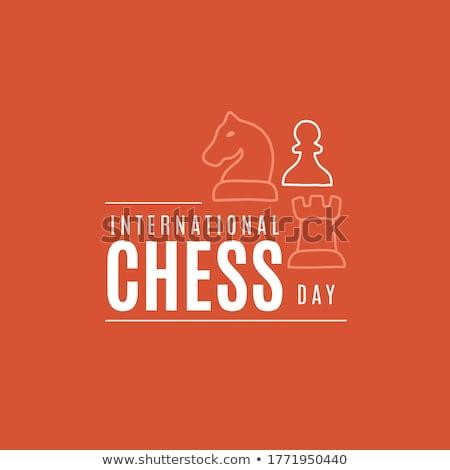 International Chess Day. Vector illustration Stock photo © Natali_Brill