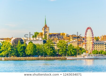 Suíça céu cidade viajar Foto stock © lunamarina