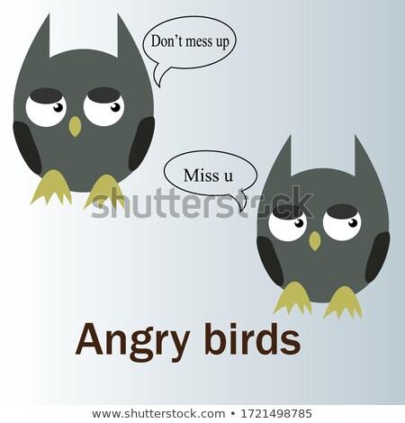 Angry Cartoon Letter U Stock photo © cthoman