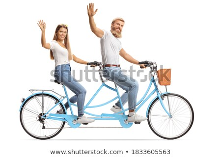 Happy Couple Bicycle Riders Stock photo © 2tun