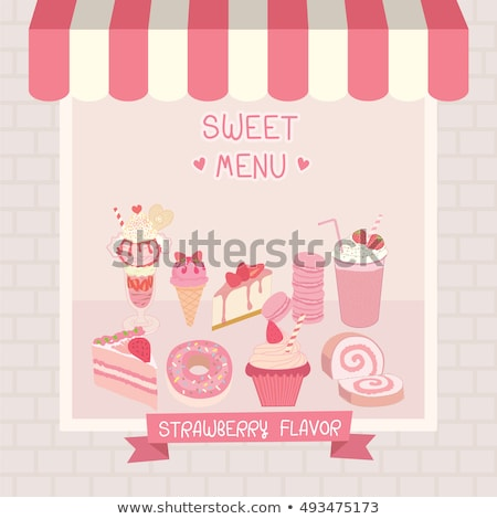 Soft Drink and Ice Cream Colorful Vector Poster Stock photo © robuart