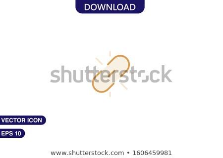 Folderze ikona link modny stylu odizolowany Zdjęcia stock © kyryloff