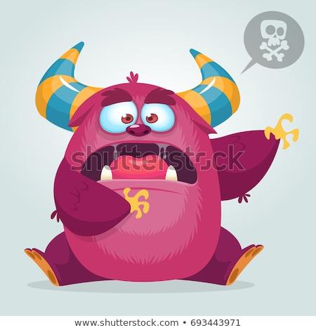 Assustado desenho animado alienígena ícones expressões Foto stock © cthoman