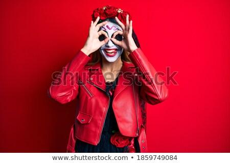 portré · menyasszony · koszorúslány · sátor · recepció · nő - stock fotó © konradbak