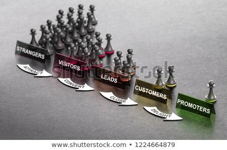 Marketing principi nero segni frecce illustrazione 3d Foto d'archivio © olivier_le_moal