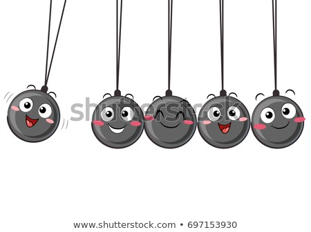 Newtons Cradle Pendulum Mascot Illustration Stock photo © lenm