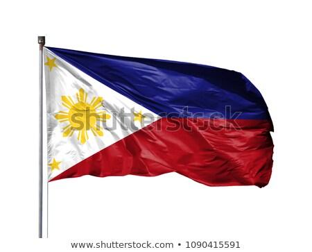 Filipinler bayrak yalıtılmış beyaz üç boyutlu vermek Stok fotoğraf © daboost