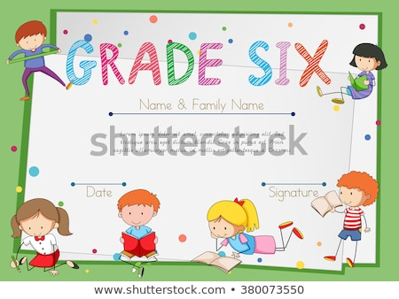 Grade six diploma certificate Stock photo © bluering