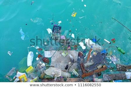 Morskich zanieczyszczenia ilustracja projektu tle ocean Zdjęcia stock © bluering