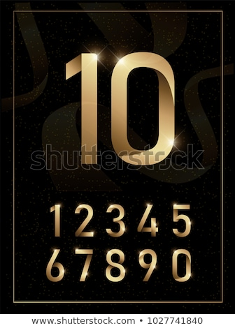 Altın numara altı 3D 3d render örnek Stok fotoğraf © djmilic