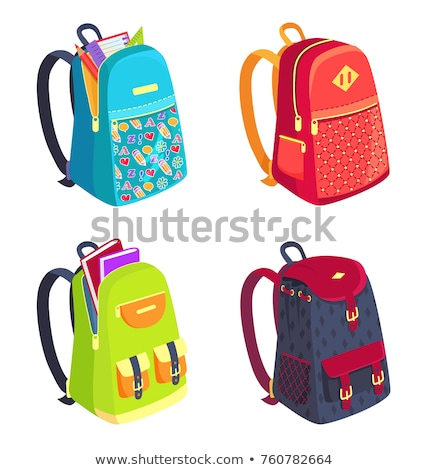 Back to School Backpack on Fastener with Pockets Stock photo © robuart