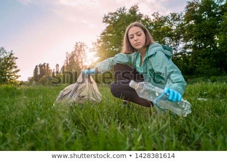 девушки мусор природы иллюстрация детей фон Сток-фото © colematt