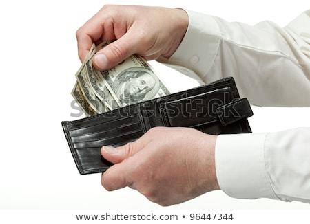 üzletember kéz ki dollár pénztárca globális Stock fotó © ra2studio
