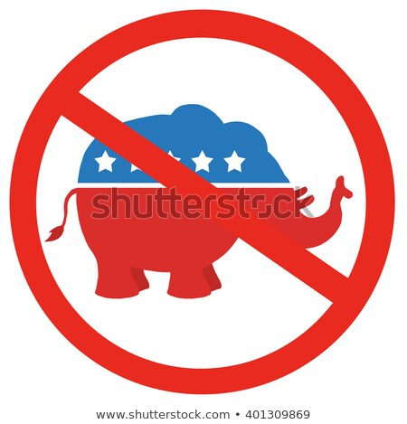 stop republicans circle label stock photo © hittoon