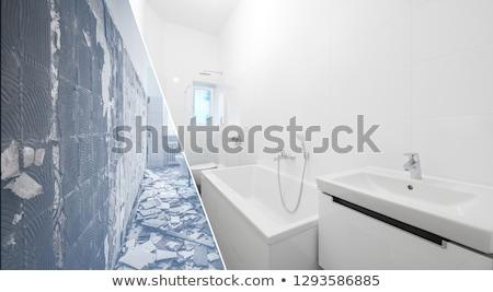 öreg plafon javítás fal elpusztított dekoráció Stock fotó © romvo
