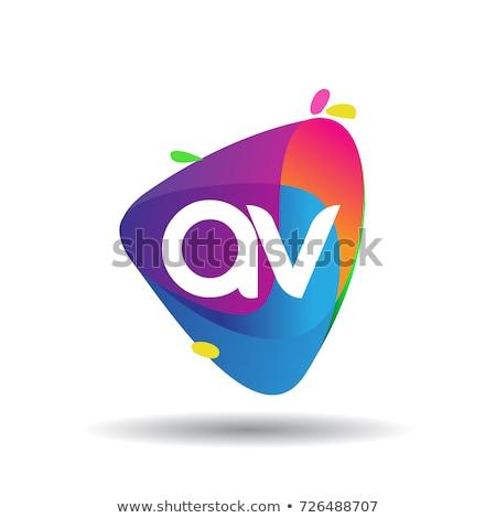 Negócio geometria abstrato colorido logotipo vetor Foto stock © blaskorizov
