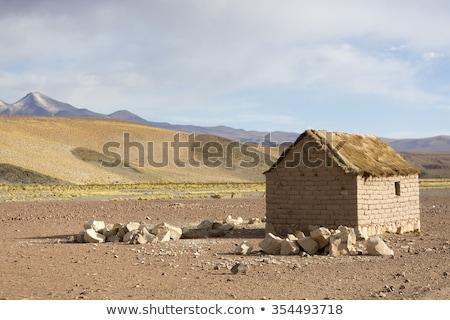 Hagyományos öreg kő ház Bolívia részlet Stock fotó © boggy