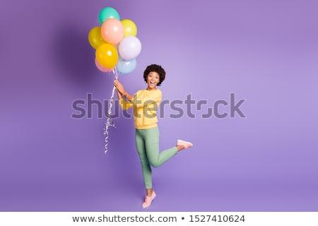 Fotografia · uśmiechnięty · para · kolorowy · ubrania - zdjęcia stock © deandrobot