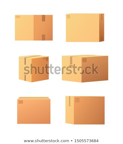 Square Shaped Carton Boxes for Products Keeping Stock photo © robuart