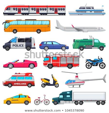 Set of transportation vehicle Stock photo © bluering