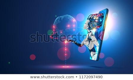 üzletemberek kommunikál alkalmazás mesterséges intelligencia szolgáltatás interaktív Stock fotó © RAStudio