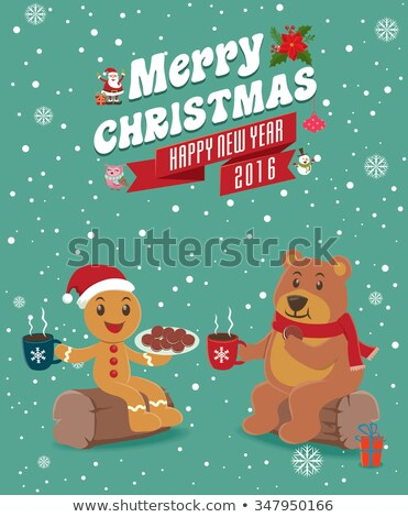 cookies santa claus gingerbread biscuits poster stock photo © robuart