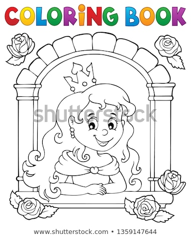 coloring book princess in window theme 1 stock photo © clairev