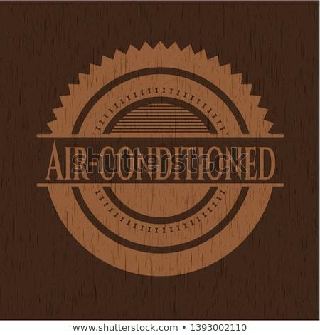 Foto stock: Cor · vintage · ar · condicionado · emblema · ventilação · eps