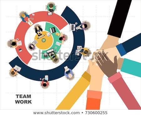 Vállalati vezetőség fejlesztés csapat megbeszélés terv Stock fotó © makyzz