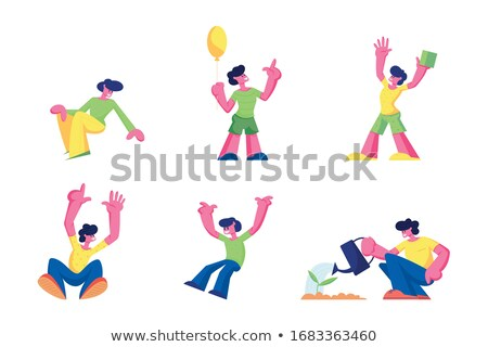 Character Children Rejoice And Playing Set Vector Stock photo © pikepicture
