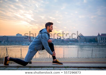 Active guy by riverside Stock photo © pressmaster