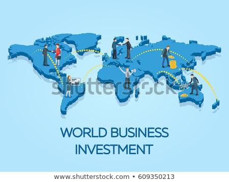 Internationale bedrijfsleven winst vector zakenman aktetas Stockfoto © robuart