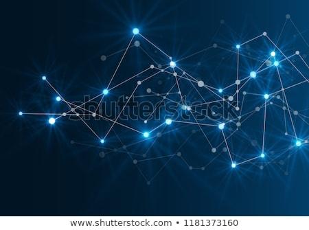 hat · bağlamak · vektör · geometrik · soyut · moleküler - stok fotoğraf © designleo
