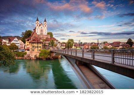 Suíça ver rio cidade ponte arquitetura Foto stock © borisb17