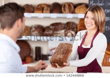baker woman selling bread stock photo © kzenon