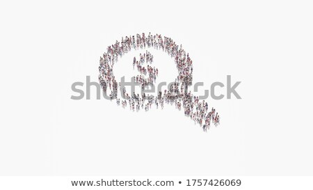 Man with magnifier and money on white background. Isolated 3D il Stock photo © ISerg