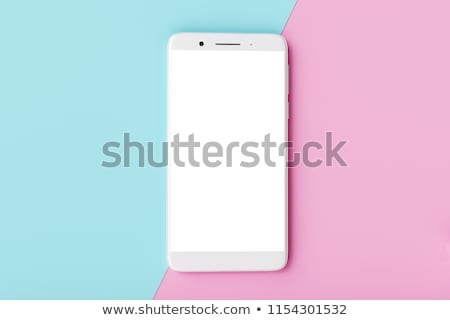 Front view of smartphone with empty screen Stock photo © magraphics