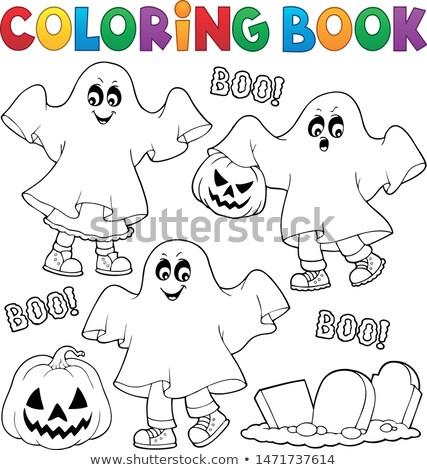 Libro para colorear ninos fantasma libro nino Foto stock © clairev