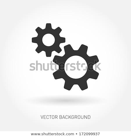 Cog iconen geïsoleerd witte groene Stockfoto © cidepix