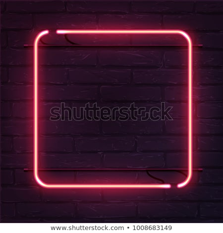 Square Red Neon Frame Stock photo © Voysla