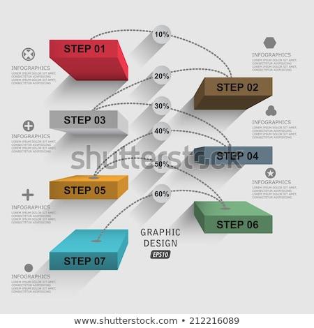 Iş infographics yüzde basamak merdiven ikon Stok fotoğraf © rwgusev