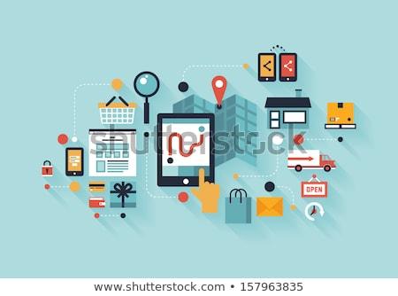 Zdjęcia stock: Smartphone · elektronicznej · technologii · kolor · wektora · monochromatyczny