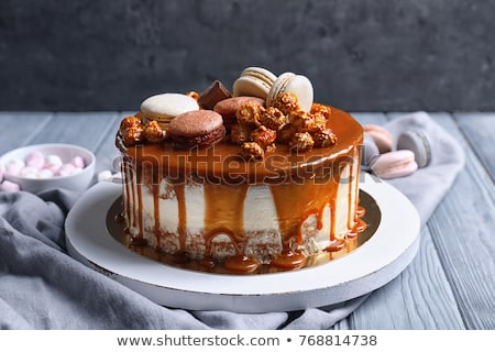 delicious cake with glaze   Stock photo © fanfo