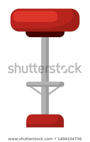 barstool with soft seat red chair isolated icon stock photo © robuart