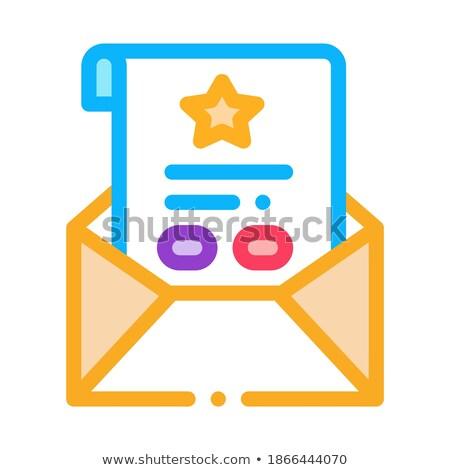 Bonus levha mektup ikon vektör Stok fotoğraf © pikepicture