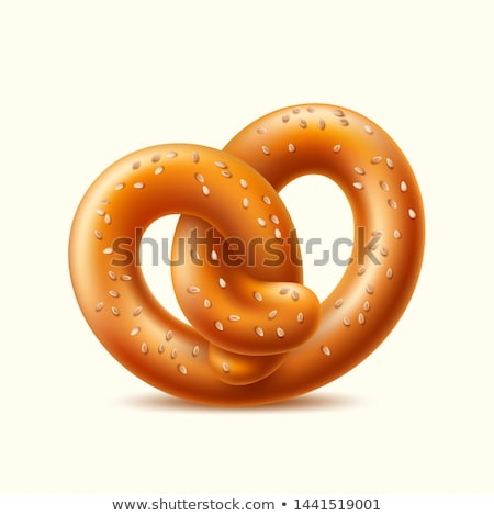 Pretzel on white background Vector realistic. fresh bavarian foo Stock photo © frimufilms