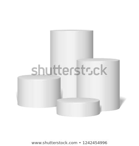 Podio illustrazione 3d isolato bianco sfondo fase Foto d'archivio © montego