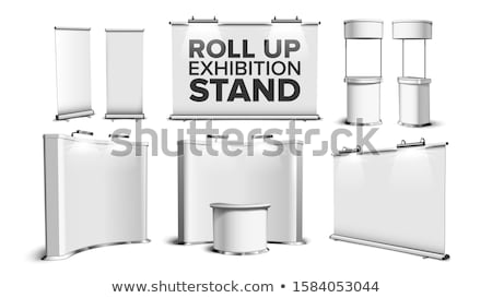 Rouler up exposition stand vecteur horizontal Photo stock © pikepicture